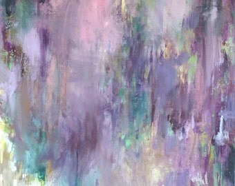 Modern Art Print-- Archival Print of Original Painting--Wisteria Spring (Part 2)