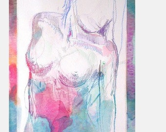 Watercolor Figure 2 -- Archival Print