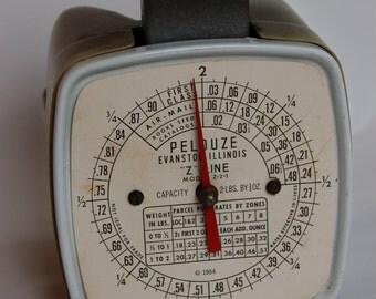 Pelouze Postal Scale. Khaki scale. Pelouze 2 lb postal scale. Vintage Pelouze scale