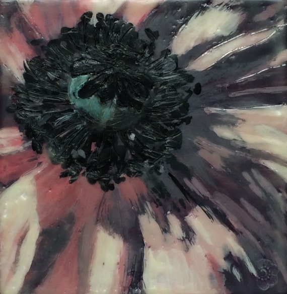 www.etsy.com/listing/231415649/pink-poppies-2-4x4-original-encaustic