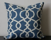 Decorative Throw Pillow Cover, Blue Pillow,16x16,18x18, Throw Pillow, Accent Pillow, Toss Pillow,Bedroom Pillow, Geometric Pillow