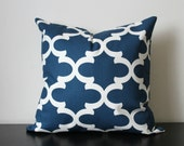 Decorative Throw Pillow Cover, Blue and White Pillow,16x16,18x18, Throw Pillow, Accent Pillow, Toss Pillow, Bedroom Pillow, Sofa Pillow