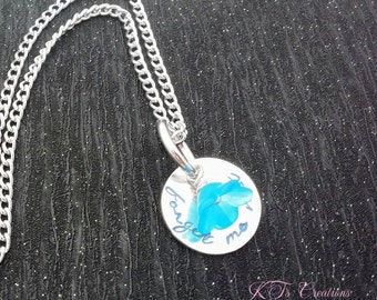 Items Similar To Forget Me Not Necklace On Etsy
