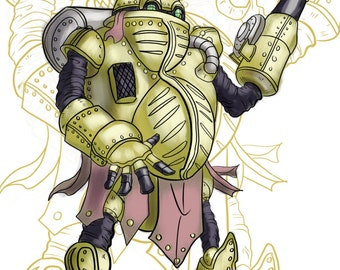 Chrono Trigger Robo Robot Akira Toriyama Video Game Square Enix Nintendo Geek Art Prints
