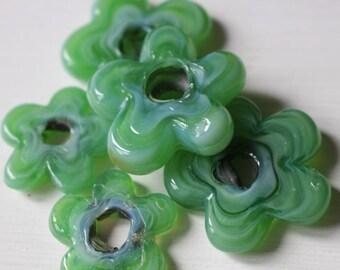 SALE Handmade turkish glass flower beads