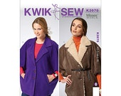 Sewing Pattern for Women's Unlined Loose Fitting Capes Kwik Sew 3978 -   - XS-S-M-L-XL K3978