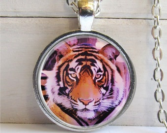Tiger Necklace, Wildlife Jewelry, Bengal Tiger, Tiger Pendant