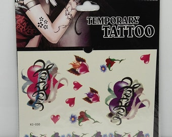 1pc heart pattern temporary tattoo sticker-10075
