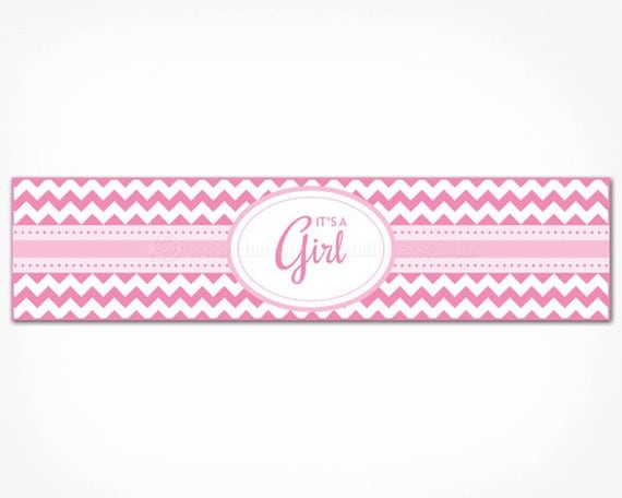 This is a picture of Transformative Free Printable Water Bottle Labels for Baby Shower