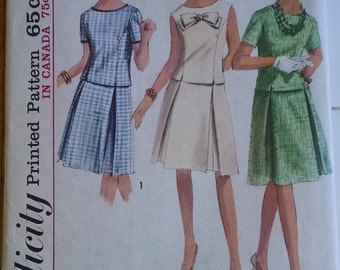 Simplicity Pattern 5919, Two Piece Dress  Size 16