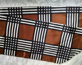 Brown and Black Check Scarf Tie
