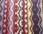 Abstract Animal Snakeskin Multicoloured Stripe Tribal Sheer Printed Chiffon Fabric - Ex Designer - purple red cream - Sold by the metre