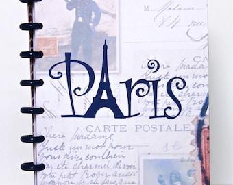 Paris Travel Journal Paris Scrapbook Album Honeymoon Engagement Retirement Graduation Gift Birthday Gift