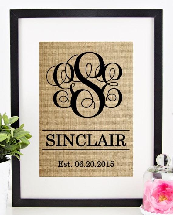 Personalized Wedding Gift for Couple Rustic Wedding Decor Gift for ...