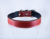 Brown Leather Dog Collar Frenchy Collection