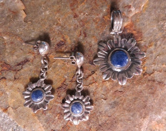 sodalite and silver set