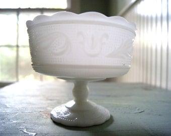 EO Brody Milk Glass Compote Dish