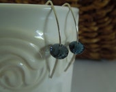 Sterling Silver and Montana Blue Czech Beads Earrings