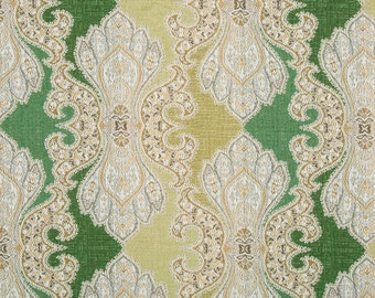 Contemporary Green Damask Upholstery Fabric - Modern Furniture Upholstery - Lime Green Fabric - Damask Headboard - Green Throw Pillow