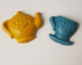 Tea party crayons. party favors, goody bags, tea time