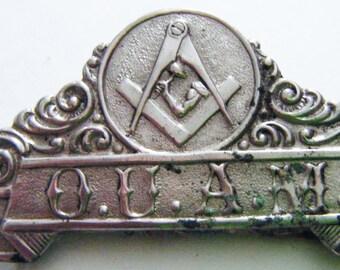 1800's Rare O.U.A.M. Order Of The United American Mechanics Pin
