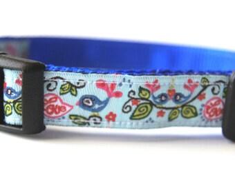 Love Birds Dog Collar Adjustable Sizes (XS, S, M)