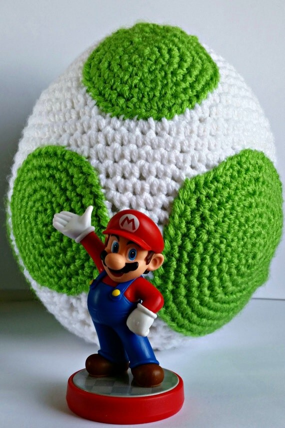 Free Yoshi Egg Crochet Pattern : Yoshi Egg Amigurumi Crochet Pattern PDF/ by CavazyAndAdoraboo