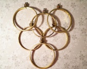 6 Vintage Brass 40mm Eisenhower Liberty Dollar Coin Holders Bezels