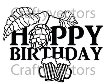 Hoppy Birthday Vector file