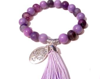 Tree of Life Bracelet - Bead Bracelet - Jade Tassel Bracelet - Buddha Jewelry - Yoga Bracelet - Meditation Bracelet - Yoga Jewelry