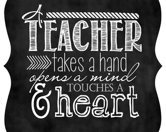 """Ornate Magnet - 5x5 """"Teacher Appreciation""""  ~ Chalkboard Style"""