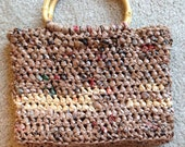 Plarn Purse with Bamboo Handles
