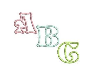 Applique Embroidery Font, Applique Monogram Font, Story Book Font (193) Instant Download