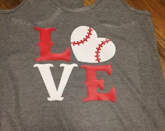 Love Baseball tank