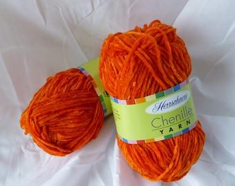 Yarn Sale  - Burnt Orange Chenille yarn by Herrschners