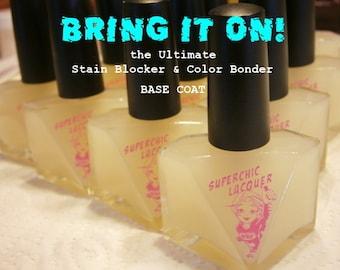 Bring It On! Base Coat Nail Polish - Stain Blocker - Color Bonder - Nail Protectant Varnish - 15ml Bottle