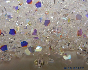 72  Swarovski Clear Aurora Borealis AB Simplicity 5.5mm Crystals, Article 5310, New Stock