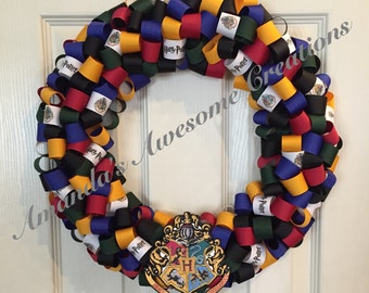 Harry Potter Hogwarts Ribbon Wreath