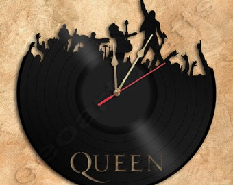 Wall Clock Queen Vinyl Record Clock Upcycled Gift Idea