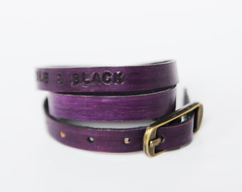 SALE*** purple wristlet