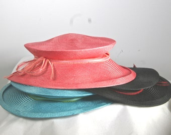 Parasisal Straw Peach Womens Hat,  PACKABLE Straw Hat,  Summer Straw Cloche Hat