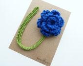 Blue Velvet Pacifier Clip--Crochet Flower pacifier clip--Baby Girl accessories--MAM adapter--Sweetlace Shop