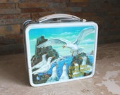 Vintage 1973 Jonathan Livingston Seagull lunchbox - Aladdin metal lunch box - vintage lunchbox Grade 9 condition
