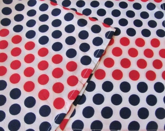 """Red Blue White Dot Acetate Poly Soft Scarf 22"""" Square - Affordable Scarves!!!"""