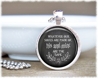 Emily Bronte Quote • Book Necklace • Literary Inspired • Wuthering Heights • Literary Necklace
