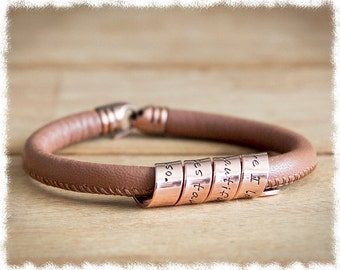 Women's Personalized Copper Bracelet • Anniversary Gift • Hidden Message Bracelet