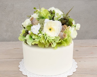 wedding cake silk flowers decorations flower cake topper etsy 24546