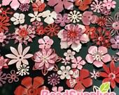FG-FG-090SR- Nickel free, Color enameled, Sampler set of flower filigree,Rose mix, 48 pcs