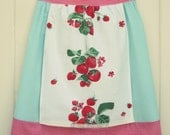 vintage sweet strawberry half apron