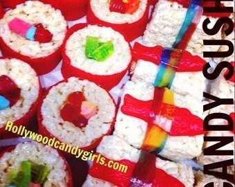 Rice Krispy Treat Candy Sushi, Sashimi Asian Favors, Ninja Party Gifts, Mitzvahs, Candy Land Party, Wonka, Karate, Japanese, Theme, Party,